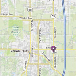 Map, Crown Point Location