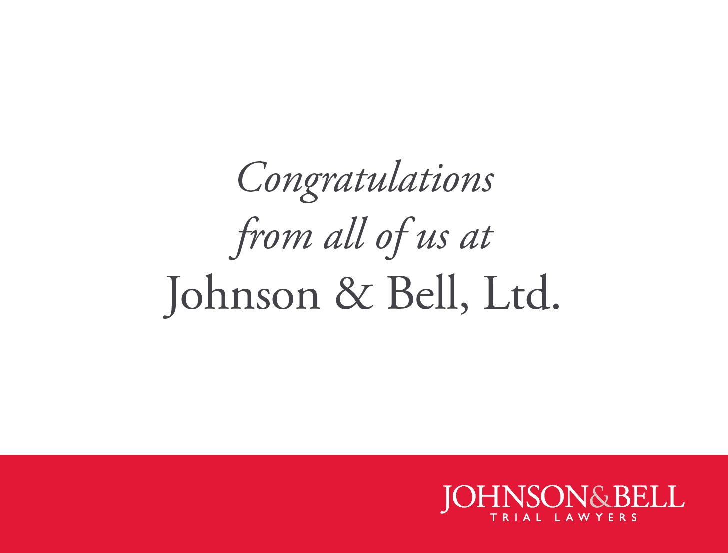 Congratulations Carlos Vera from all of us at Johnson and Bell