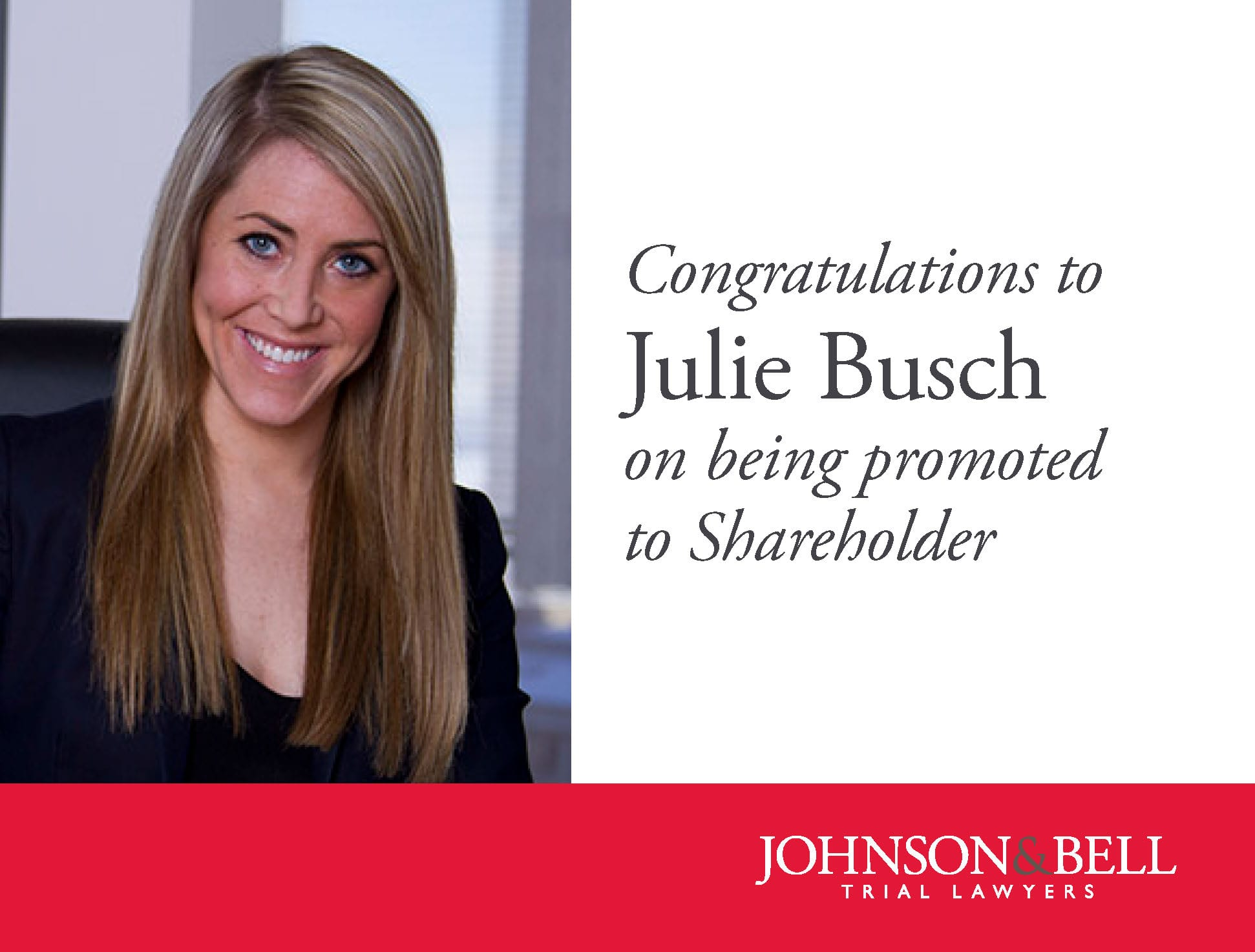Julie Busch - Shareholder Promotion