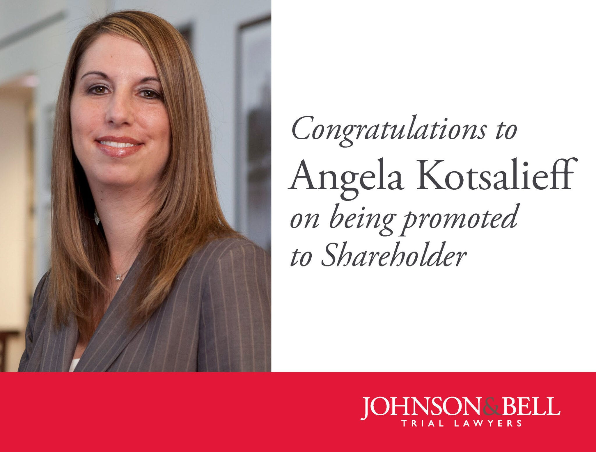 Angela Kotsalieff - Shareholder Promotion